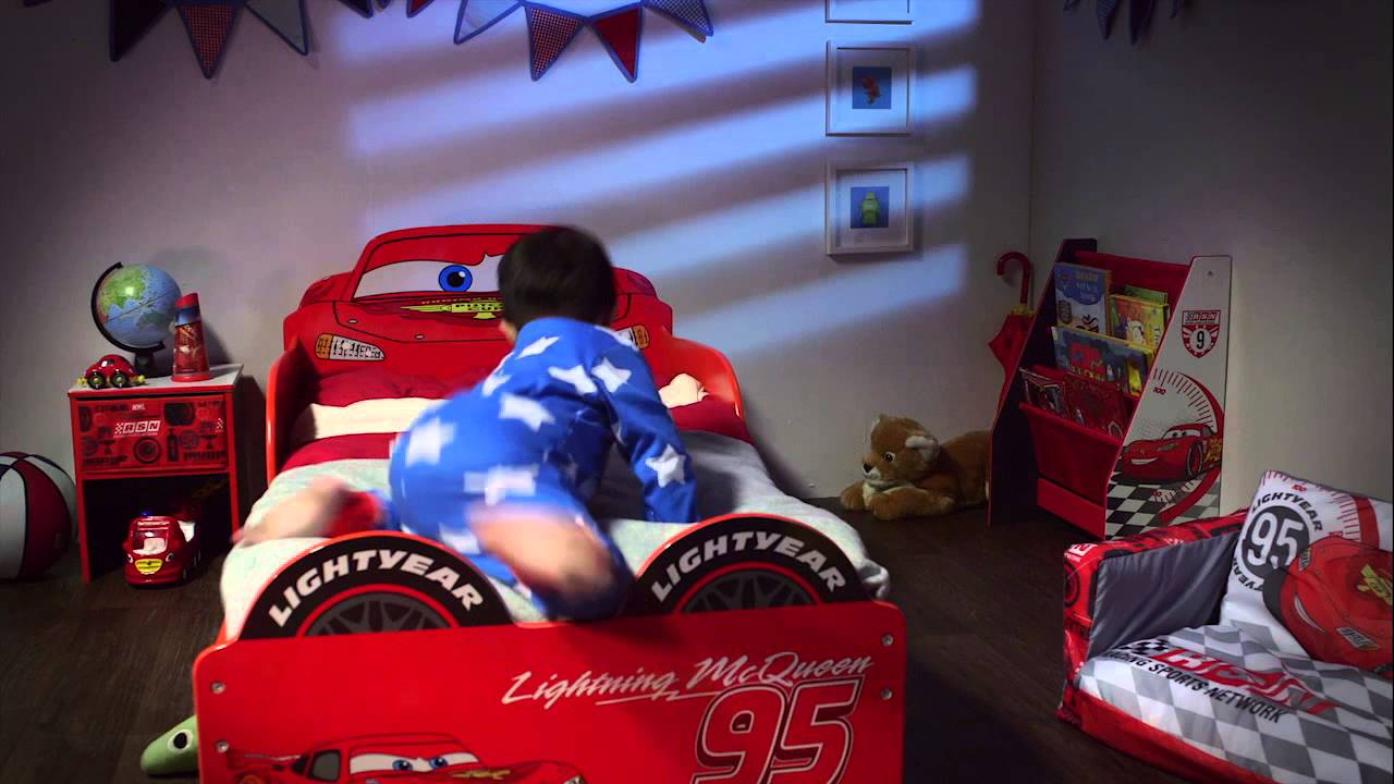 Disney Cars Lightning Mcqueen Snuggle Time Toddler Bed