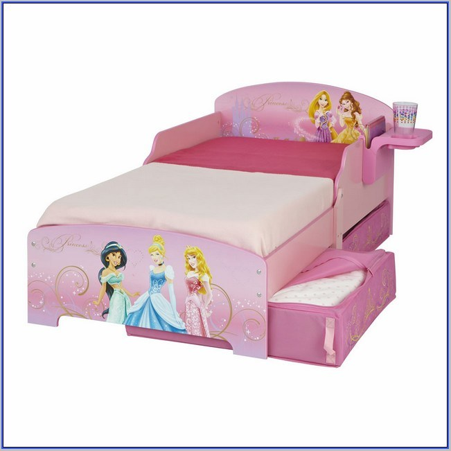 Disney Princess Canopy Toddler Bed Set
