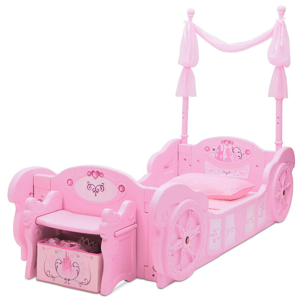 Disney Princess Carriage Toddler Bed Pink