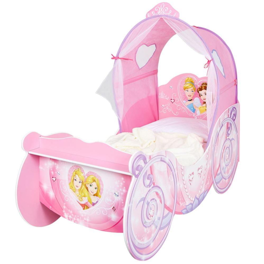 Disney Princess Carriage Toddler Bed With Mattress