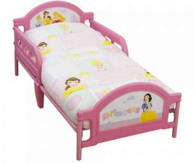 Disney Princess Toddler Bed With Canopy Set