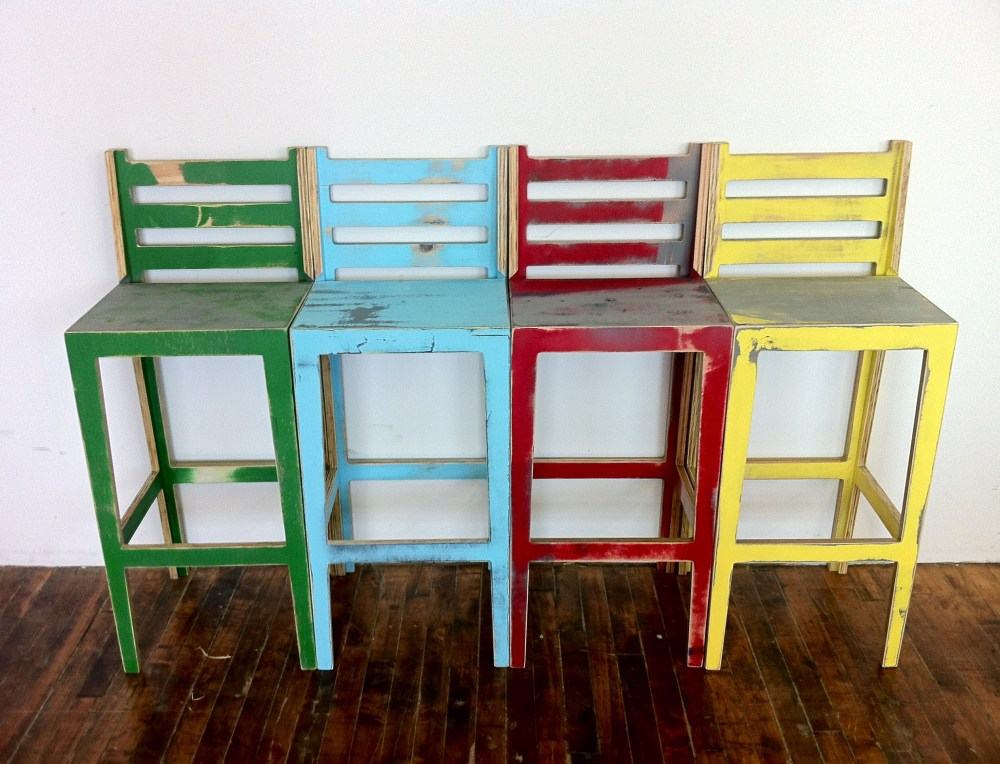 Distressed Bar Stools