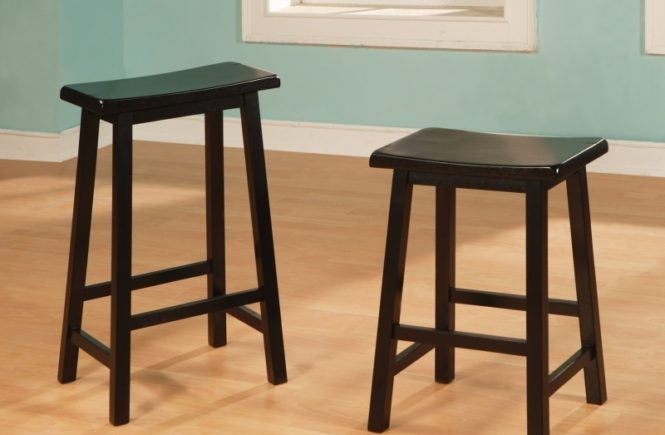 Distressed Oak Bar Stools