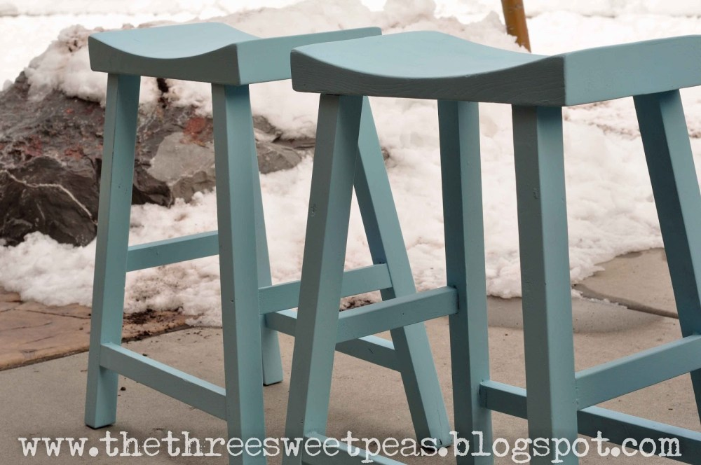 Distressed Painted Bar Stools