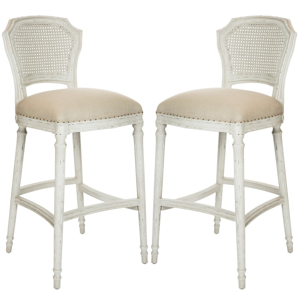 Distressed White Bar Stools
