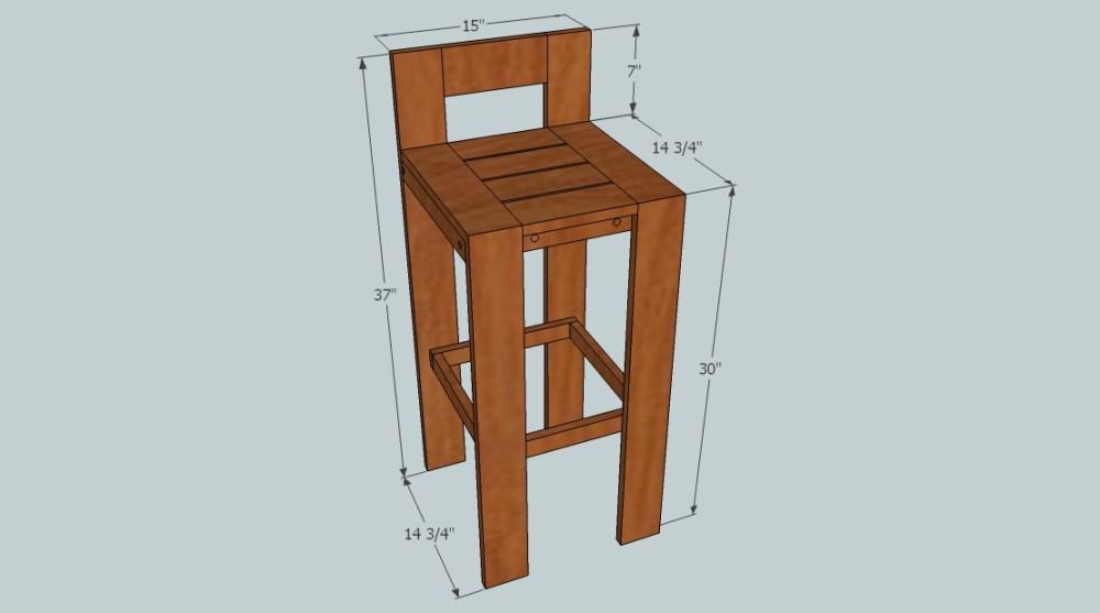 Diy Bar Stool Table