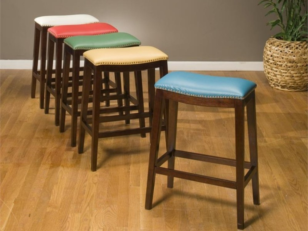 Elegant Wooden Bar Stools
