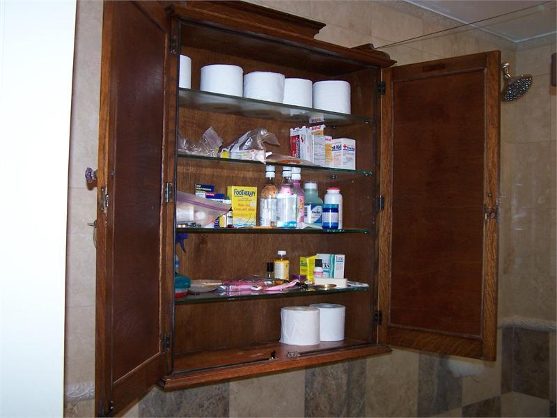 Espresso Recessed Medicine Cabinet Contemporary