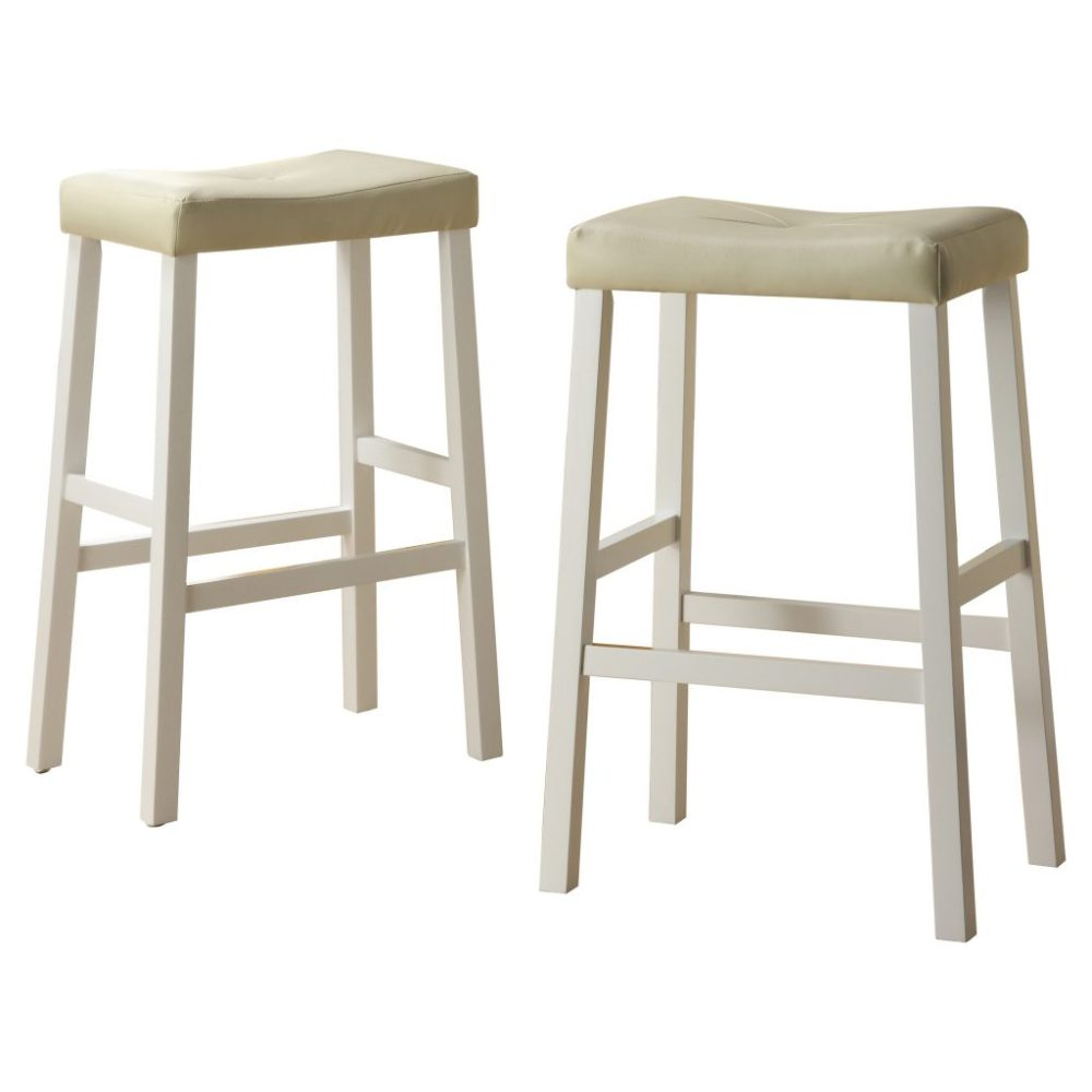 Espresso Saddle Bar Stools