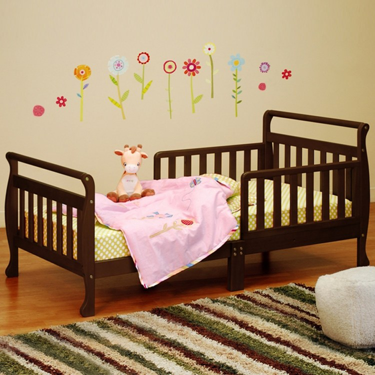 Espresso Toddler Bed Rails