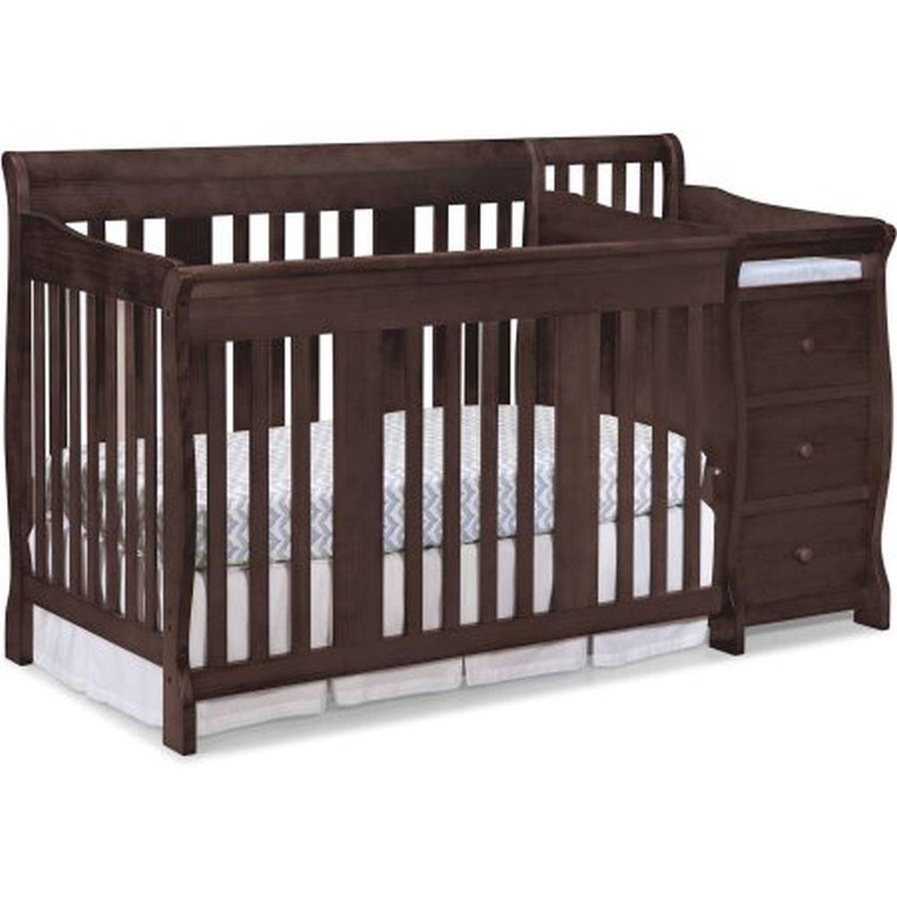 Espresso Toddler Bed With Storage
