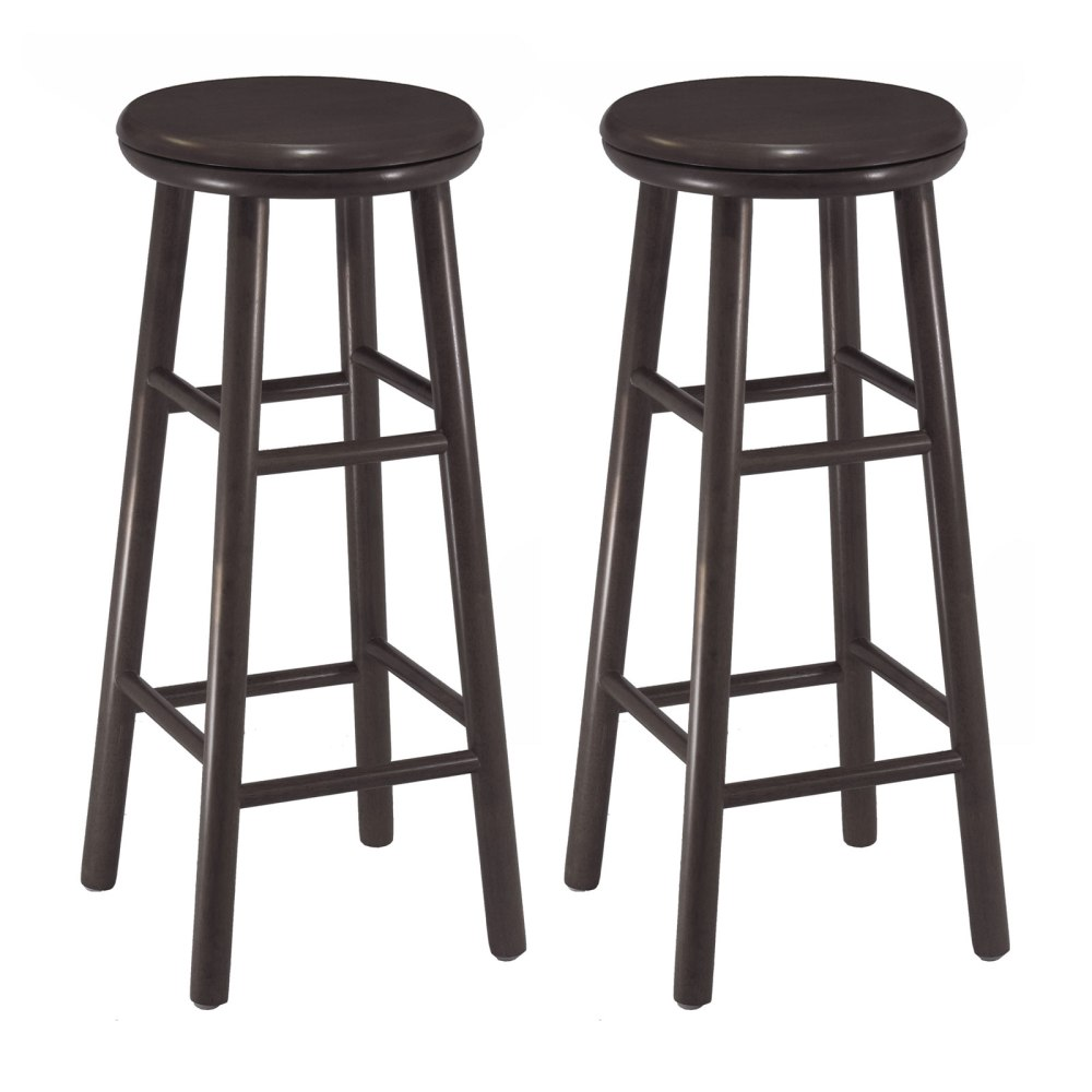 Espresso Wood Bar Stools