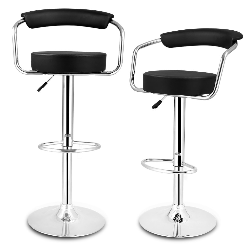 Faux Leather Bar Stools With Back