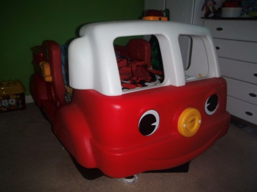 Fire Engine Toddler Bed Step 2