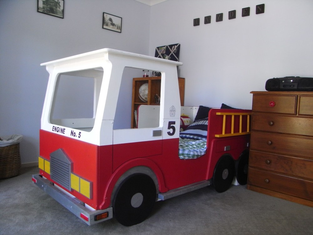 Fire Truck Toddler Bed Amazon