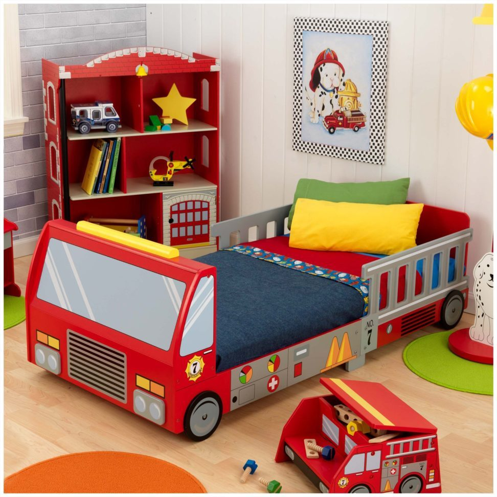 Fire Truck Toddler Bed Set