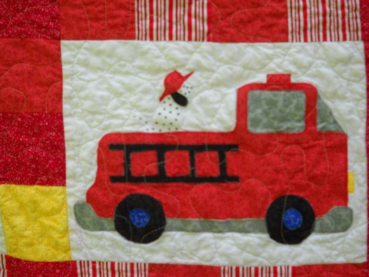 Fire Truck Toddler Quilt