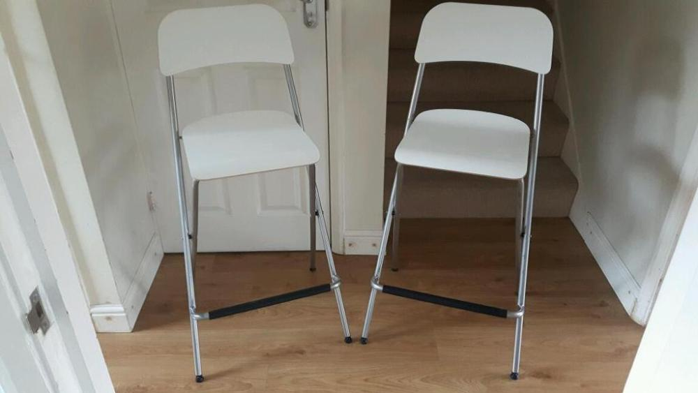 Folding Bar Stools White