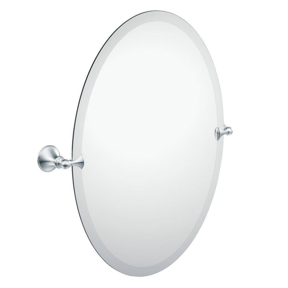 Framed Oval Mirror Medicine Cabinet