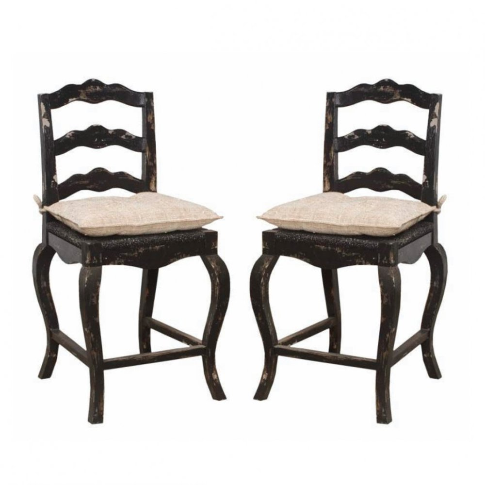 French Country Bar Stool Cushions