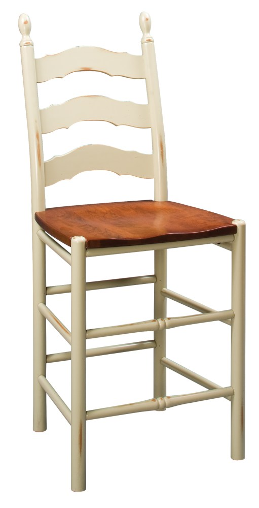 French Country Bar Stool Rush Seat