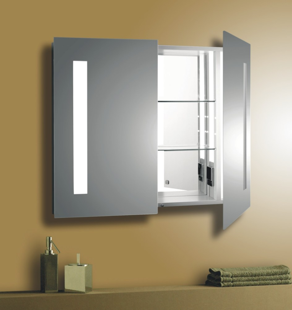 Frosted Glass Medicine Cabinet