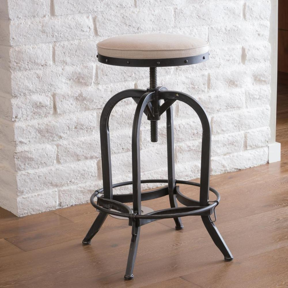 Galvanized Bar Stools With Backs