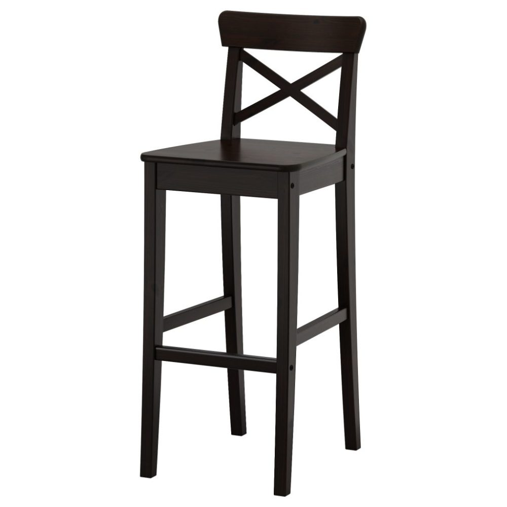 Galvanized Metal Bar Stool With Back