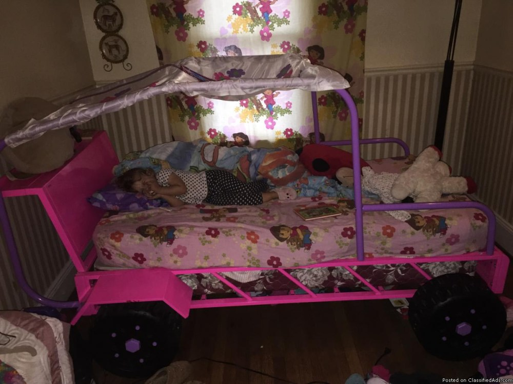 Girl Car Bed For Toddlers