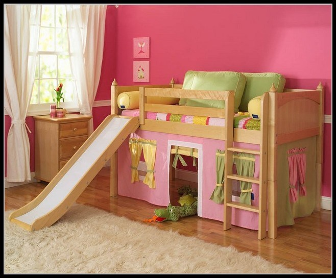 Girl Toddler Bed With Slide