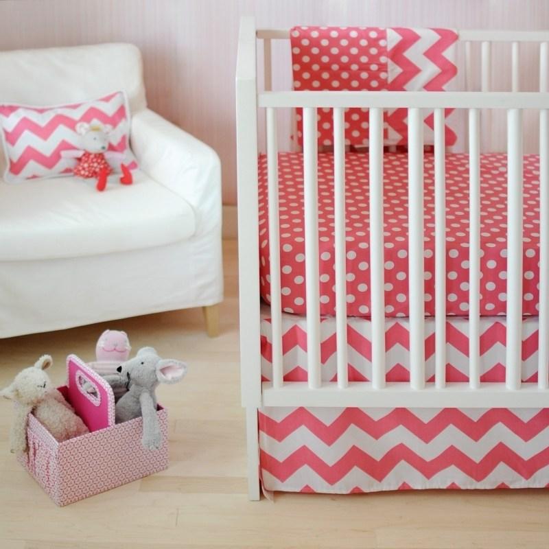 Gray Chevron Toddler Bedding
