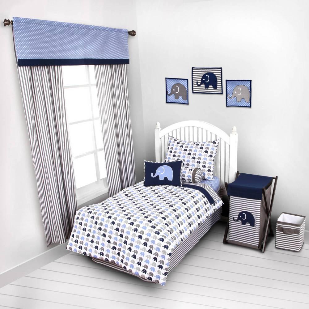 Gray Toddler Bedding Set