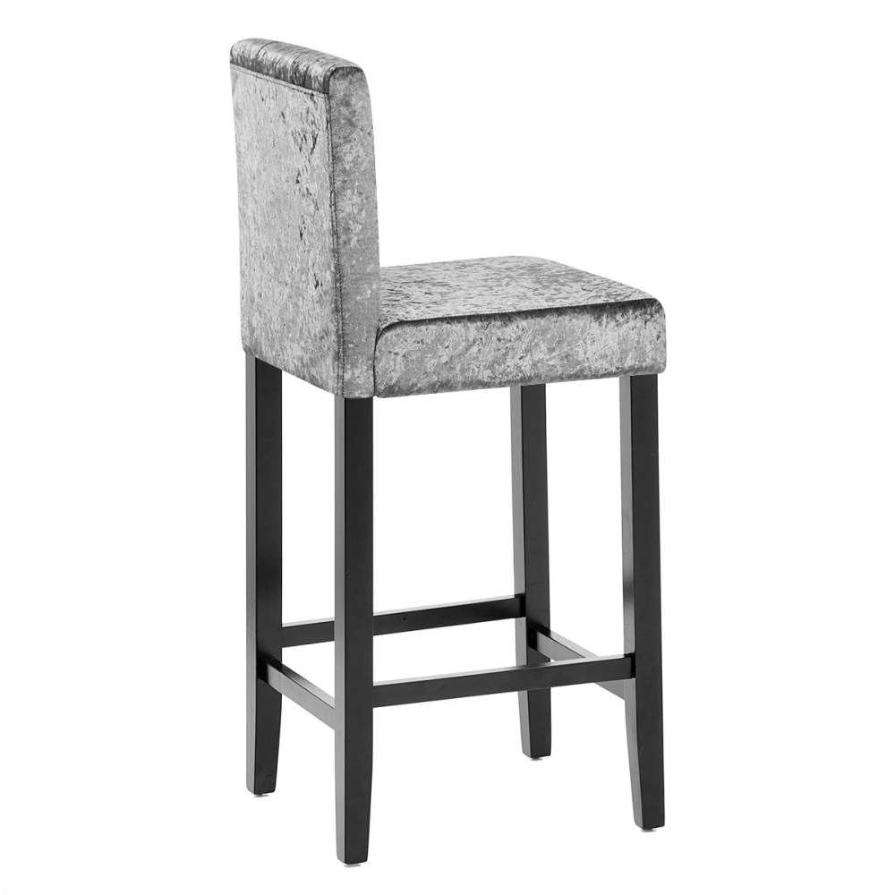 Gray Velvet Bar Stools