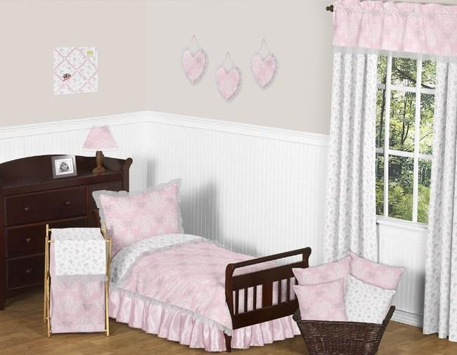 Grey Toddler Girl Bedding