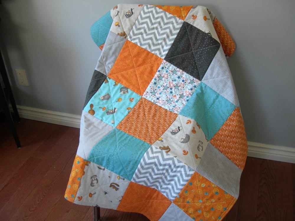 Grey Toddler Quilt