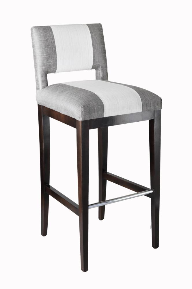 Grey Upholstered Bar Stools