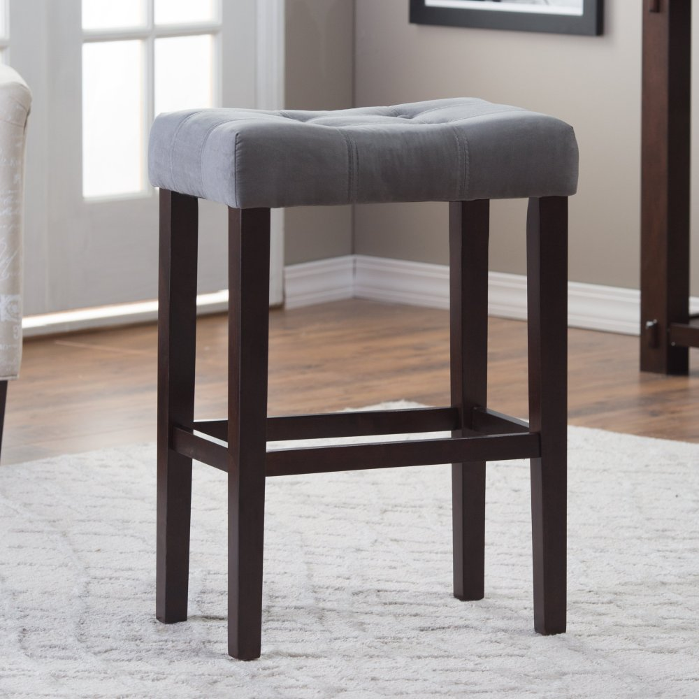 Grey Wooden Bar Stools