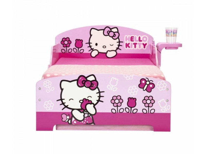 Hello Kitty Toddler Bed With Shelf & Storage