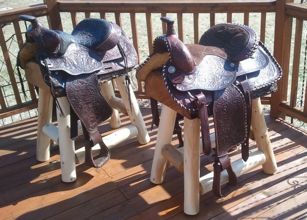 Horse Saddle Bar Stools