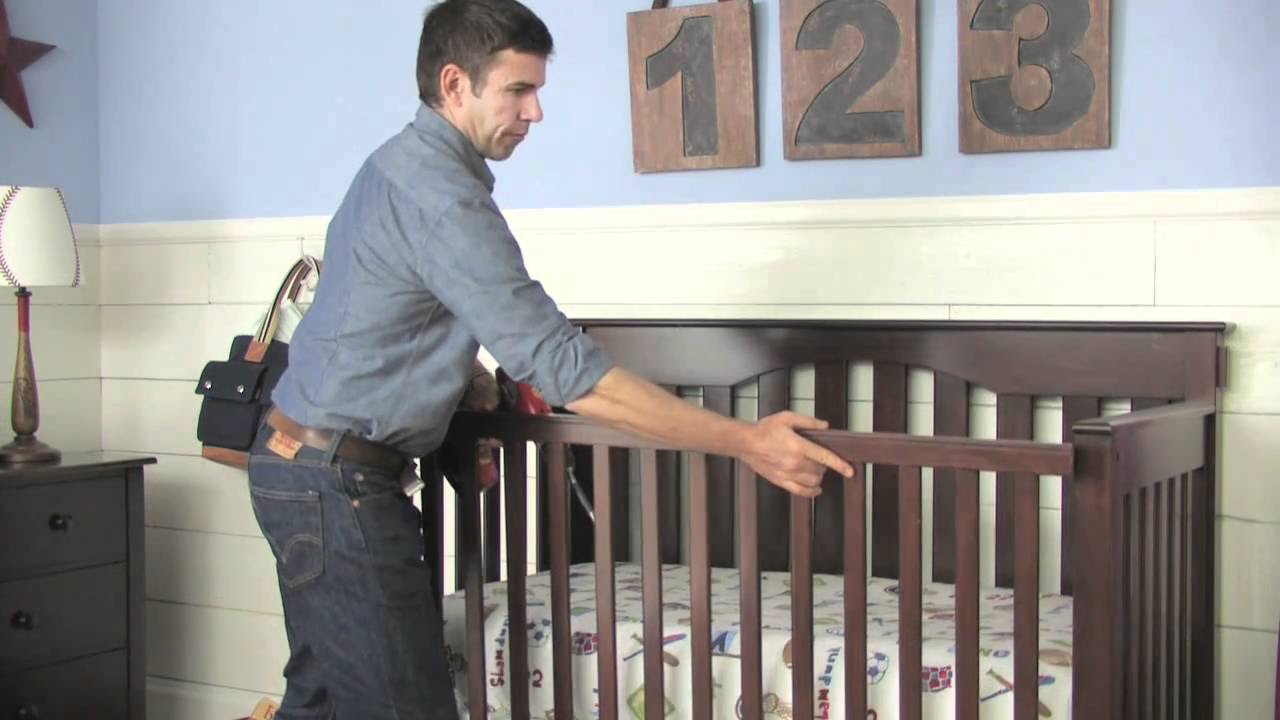 How To Convert Crib To Toddler Bed Video