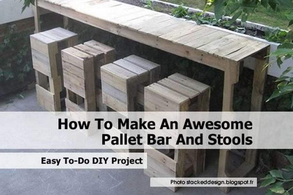 How To Make Pallet Bar Stools
