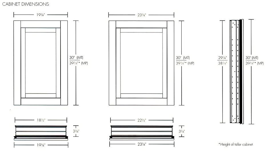 In Wall Medicine Cabinet Dimensions
