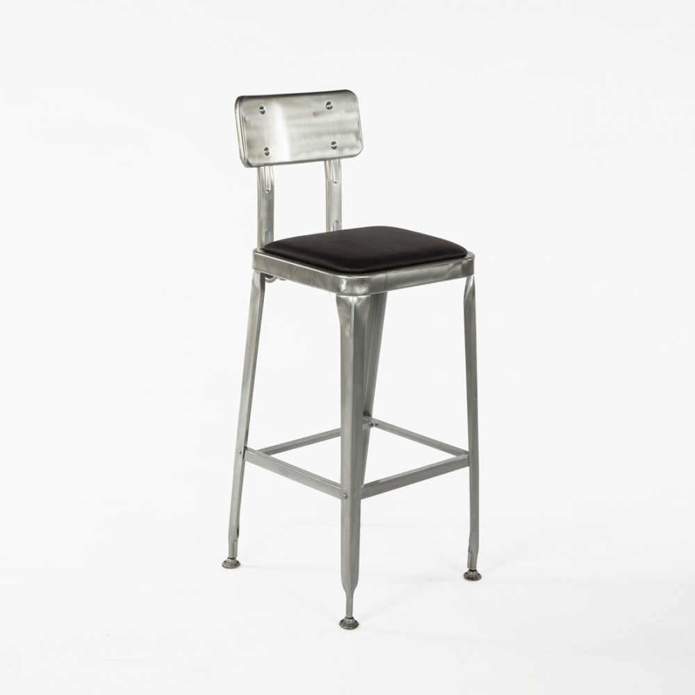 Industrial Swivel Bar Stools With Back