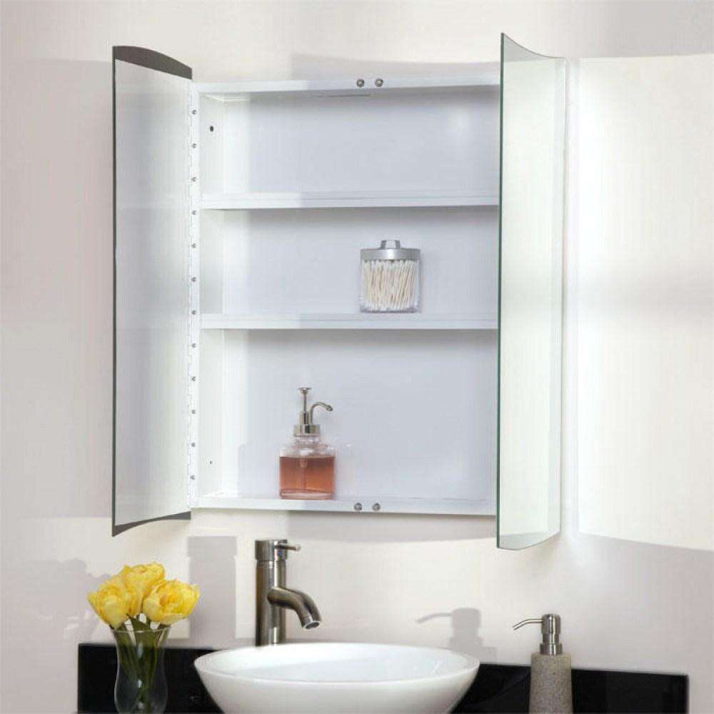 Inset Medicine Cabinet White