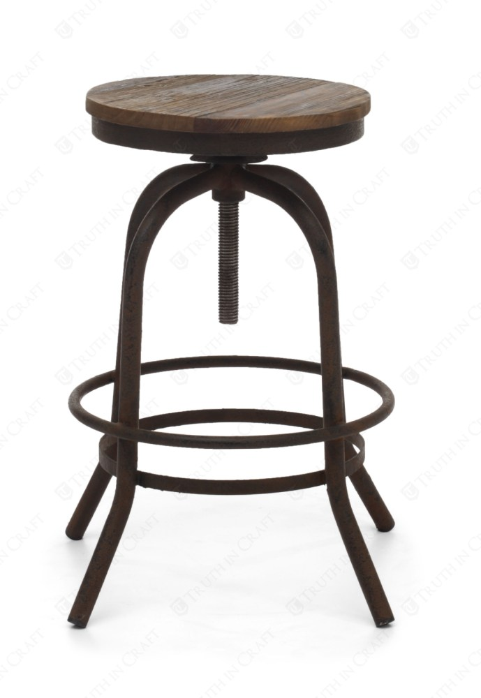 Iron Bar Stools Rustic