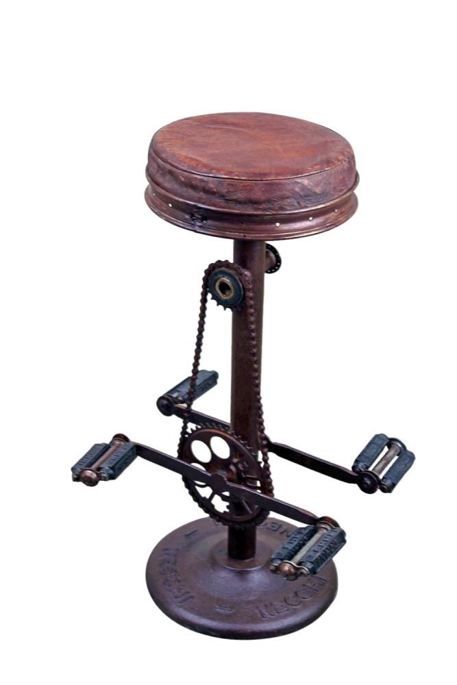 Iron Bicycle Bar Stool