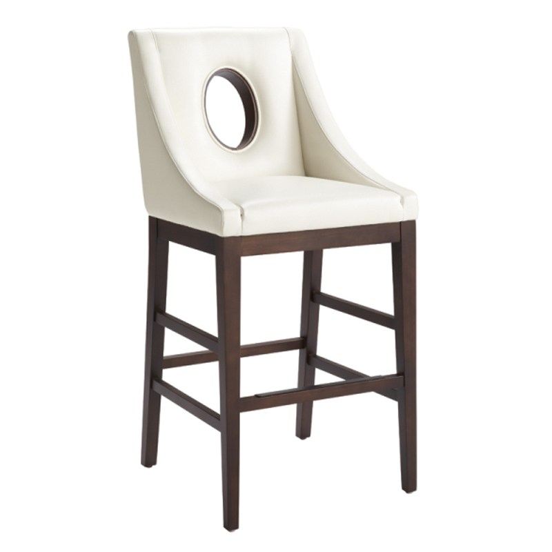Ivory Faux Leather Bar Stools