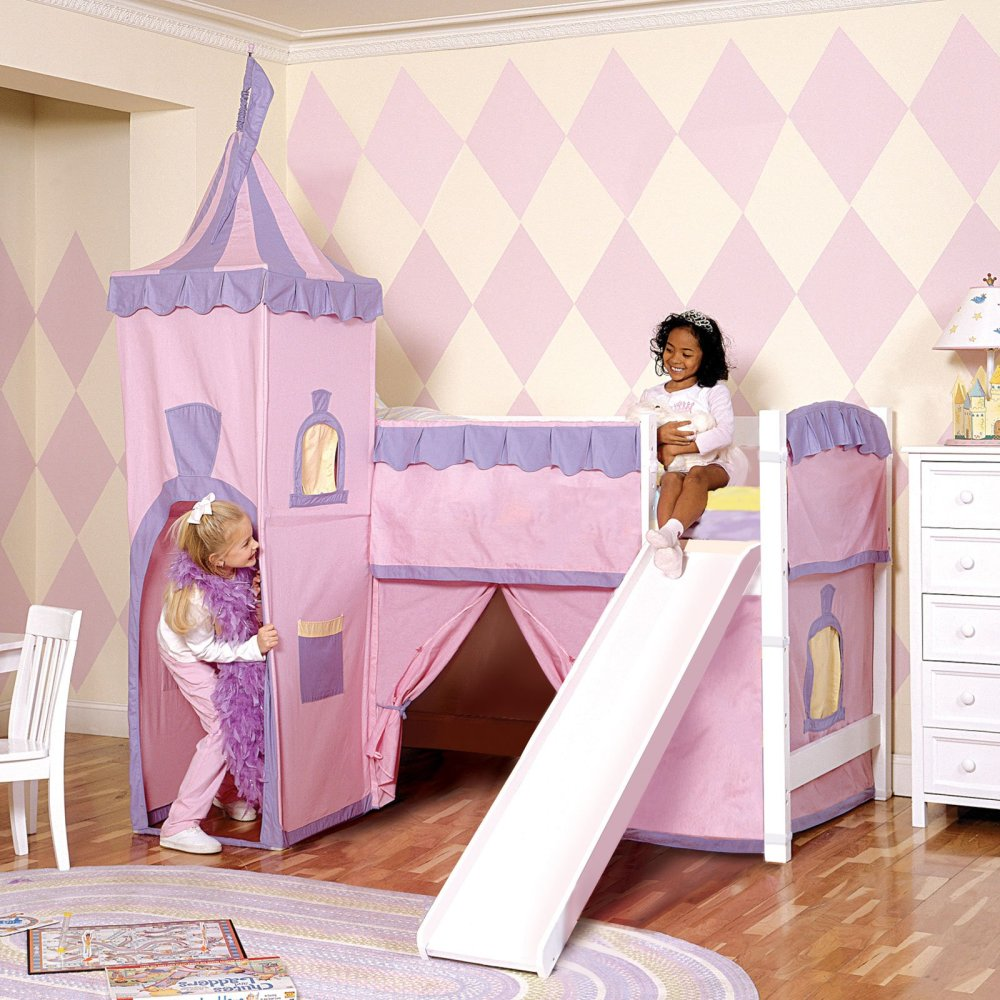 Kid Bed With Slide And Tent