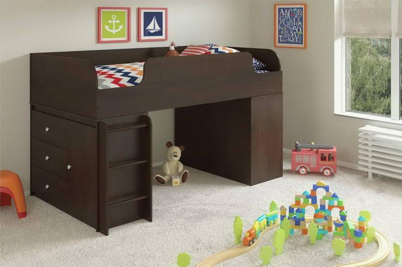Kid Bed With Storage Drawers