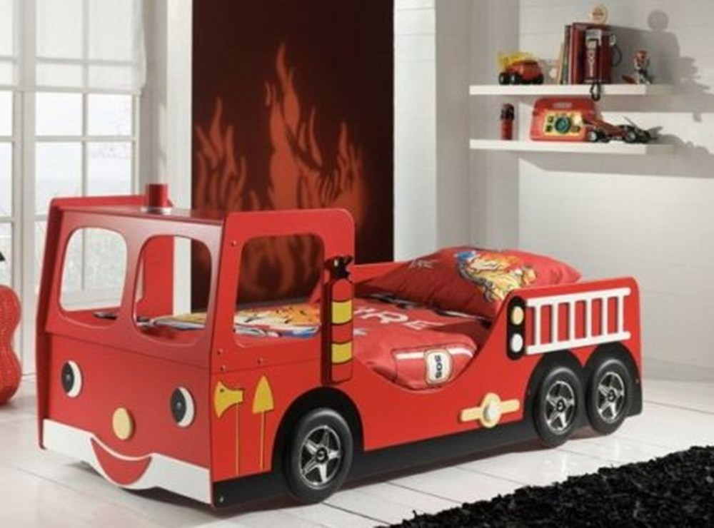 Kid Fire Truck Bed